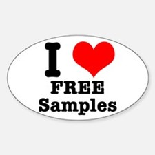 I Heart (Love) Free Samples Oval Decal