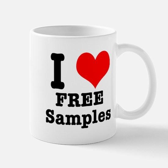 I Heart (Love) Free Samples Mug