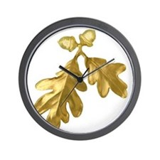 Golden Oak (leaves & acorns) Wall Clock