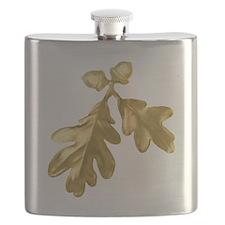 Golden Oak (leaves & acorns) Flask