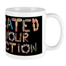 Medicated For Your Protection Black Mug Mugs