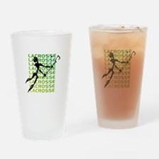 Abstract Lacrosse Drinking Glass