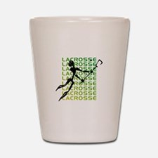 Abstract Lacrosse Shot Glass
