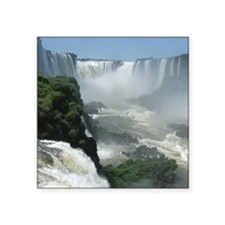 "Iguazu falls 3 Square Sticker 3"" x 3"""