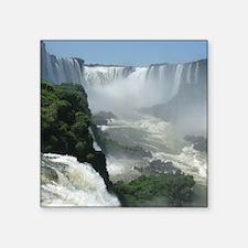 "Iguazu falls 3 Square Sticker 3"" x 3"""