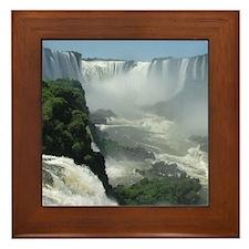 Iguazu falls 3 Framed Tile