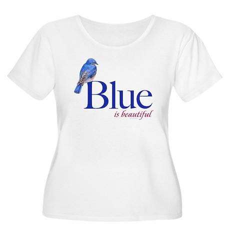 blue is beautiful Women's Plus Size Scoop Neck T-S