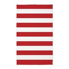 Red And White Stripes 3'X5' Area Rug