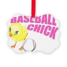 Baseball Chick Ornament