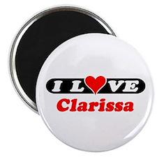 """I Love Clarissa 2.25"""" Magnet (10 pack)"""