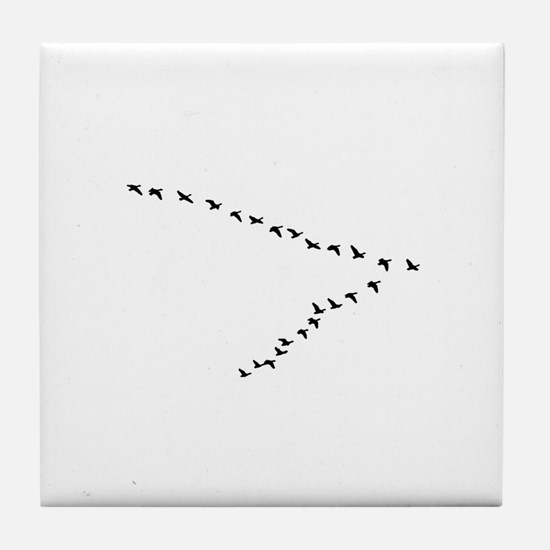 Geese Flying - V Formation Tile Coaster