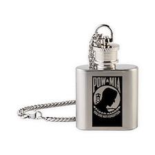 PowOvalPatch Flask Necklace