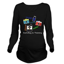 Shutterbug in Traini Long Sleeve Maternity T-Shirt