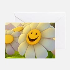 Smiling Daisy Greeting Card