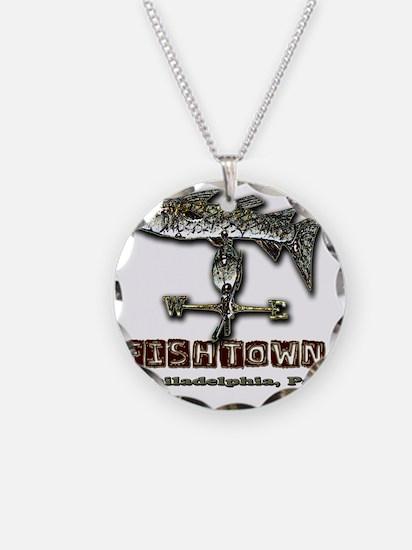 Philadelphia Fishtown Souven Necklace Circle Charm