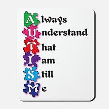 Autism Poem I am Me! Mousepad