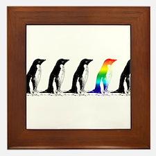 Rainbow Penguin Framed Tile