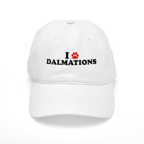 I Heart (Pawprint) Dalmations Cap