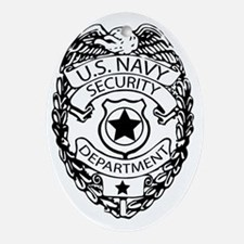 US Navy Police Badge Oval Ornament