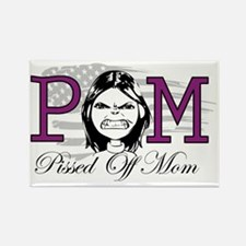 Pissed Off mom Rectangle Magnet