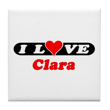 I Love Clara Tile Coaster
