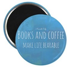 Books  Coffee Make Life Bearable Magnet