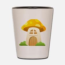 Mushroom House Shot Glass