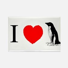 I Heart Penguins Rectangle Magnet