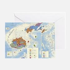 Fiji Map Greeting Card