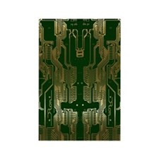 Circuitboard1 Rectangle Magnet