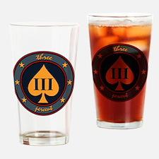 Three Percent Spade Drinking Glass