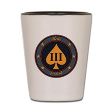 Three Percent Spade Shot Glass