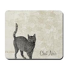 md chat noir cat map Mousepad