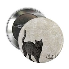 "md chat noir cat map 2.25"" Button"