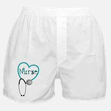 Nurse BLUE STETHO Boxer Shorts
