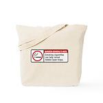 smoking reveals hidden laser traps Tote Bag