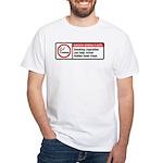smoking reveals hidden laser traps White T-Shirt