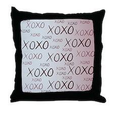 md heart xoxo mixed Throw Pillow