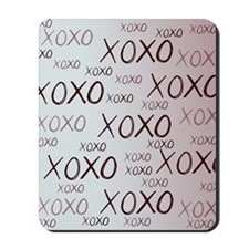 md heart xoxo mixed Mousepad