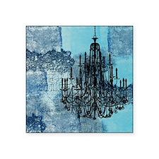"""md chandeleir old blue grun Square Sticker 3"""" x 3"""""""