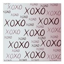 """md heart xoxo mixed Square Car Magnet 3"""" x 3"""""""