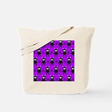 Purple and Black Ninja Bunny Pattern Tote Bag