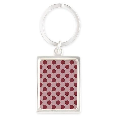 md dreamy pink big dots 2 Portrait Keychain