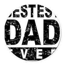 Bestest Dad Ever Round Car Magnet