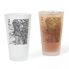 Flowing Silver Drinking Glass