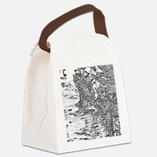 Flowing Silver Canvas Lunch Bag