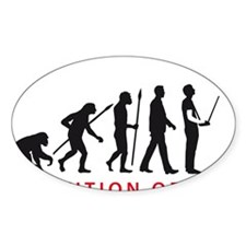 evolution of man with model helicop Decal