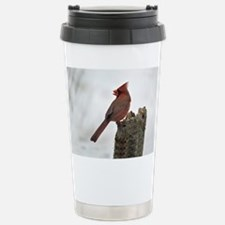 Male red Cardinal Stainless Steel Travel Mug