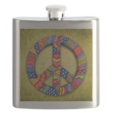 Peace Sign Note Card Flask
