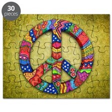 Peace Sign Note Card Puzzle